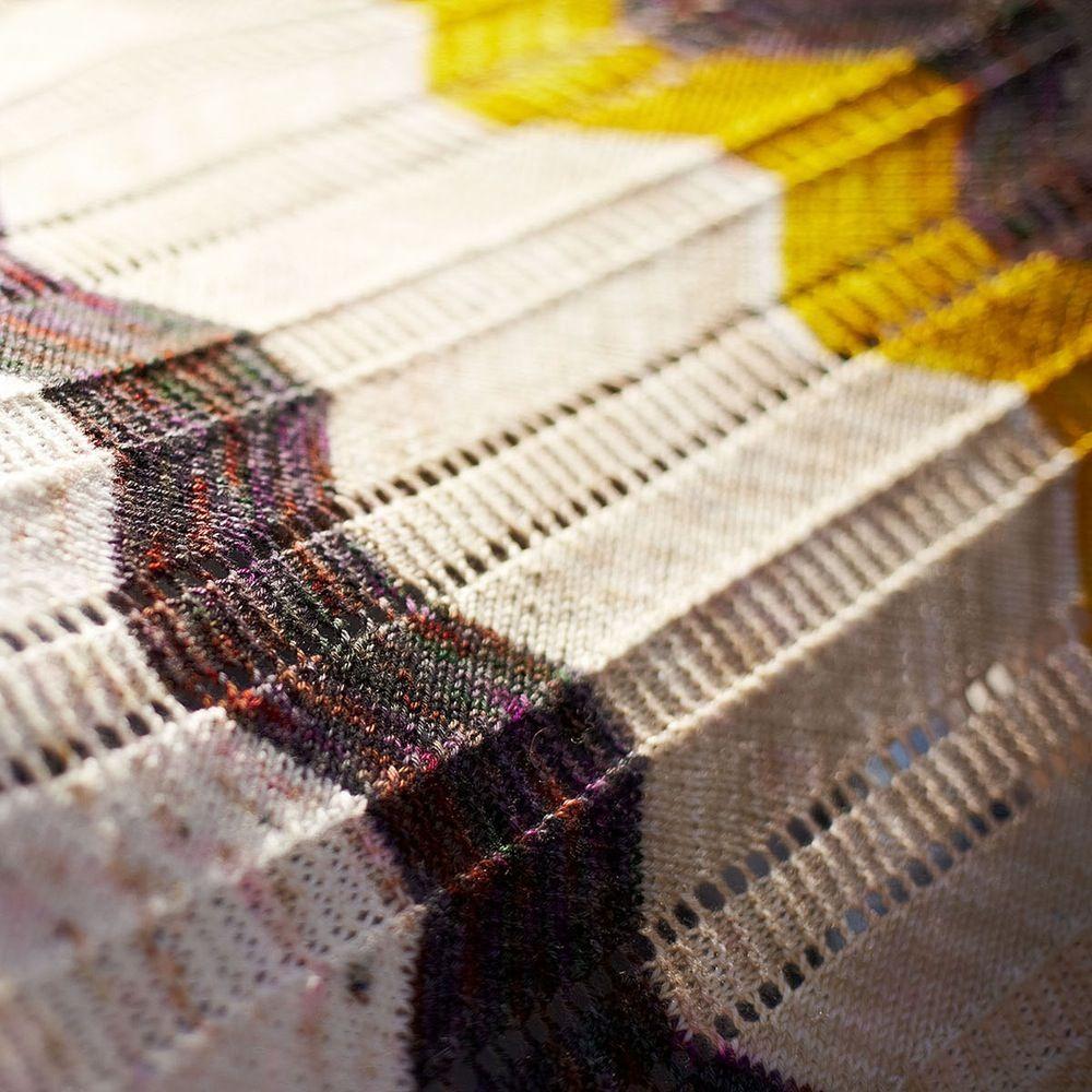 Outline Free Ripple Stitch Scarf Knitting Pattern | ΑΖΟΥΡ- ΖΑΚΑΡ ...