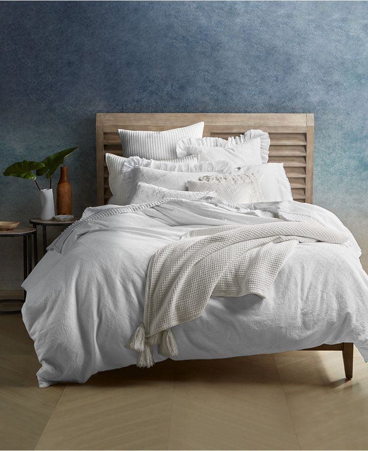 Lucky Brand Ventura Waffle Cotton 3 Pc King Duvet Cover