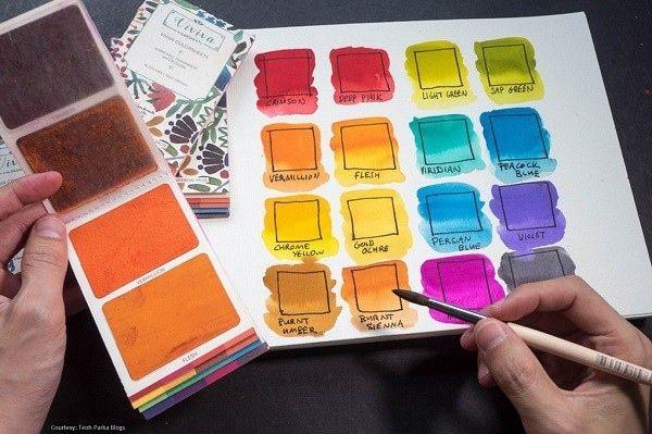 Viviva Colorsheets ポケットに入れて持ち運び可能な水彩カラー