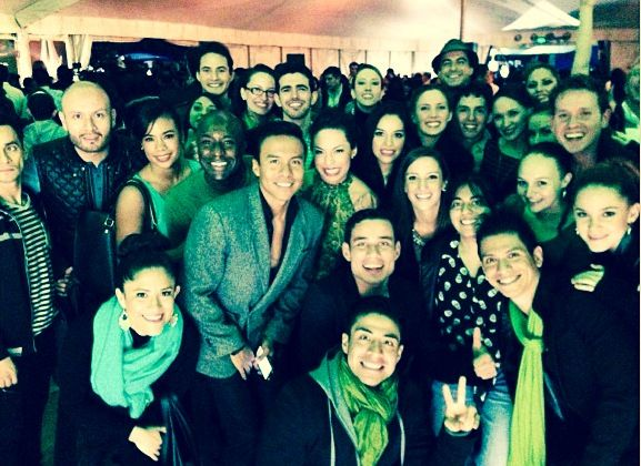 Elenco de Wicked en el Red Carpet del Cirque Du Soleil: Varekai