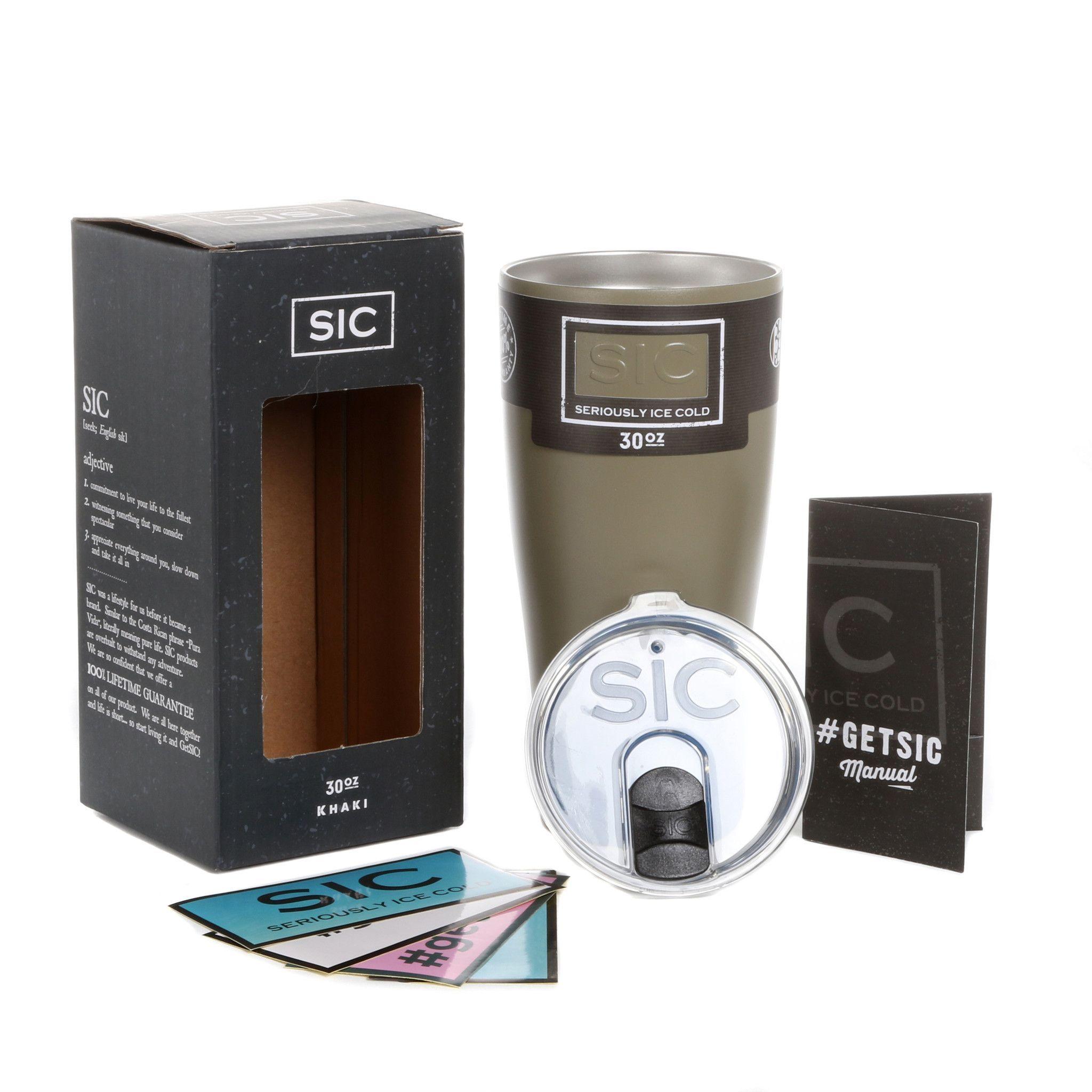 30 Oz. SIC GLACIER TUMBLER Sic cups, Insulated cups