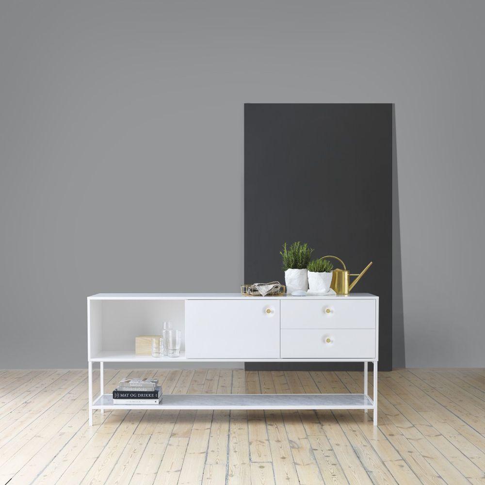 Inredning akrylplastskiva : Viti Sideboard, Vit/Vit/Mässing/Carrara, Voice   Hall   Pinterest ...