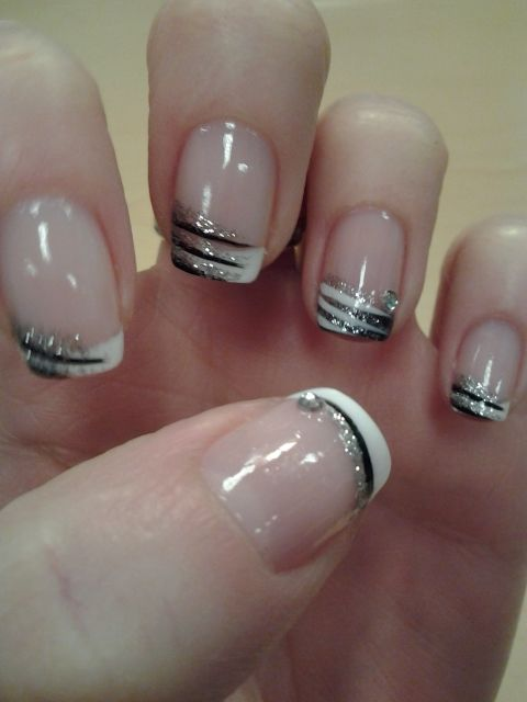 Fancy French Manicure French Manicure Pinterest Nails