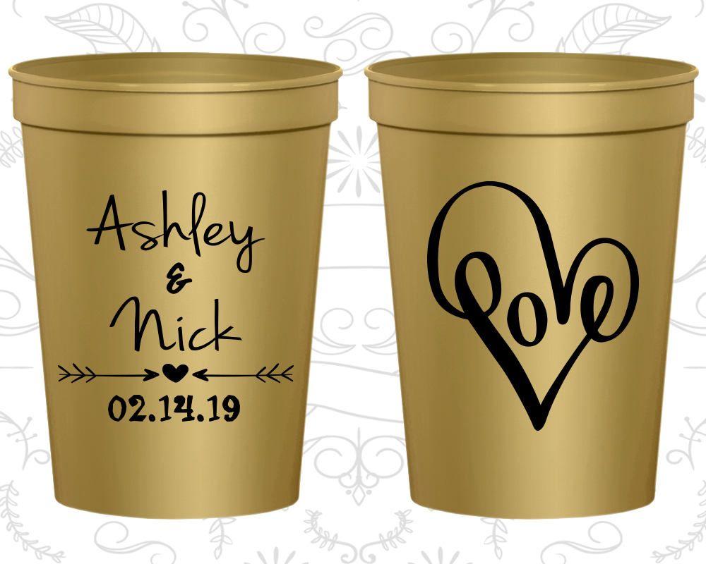 Wedding Favor Cups Plastic Stadium Personalized