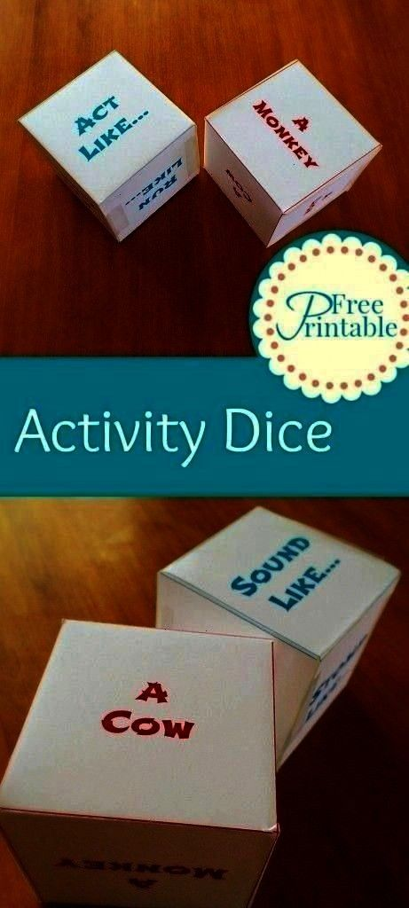 Animal Dice Games for Kids Printable Activity Dice - Animal Dice Games for Kids -  -Printable Activ