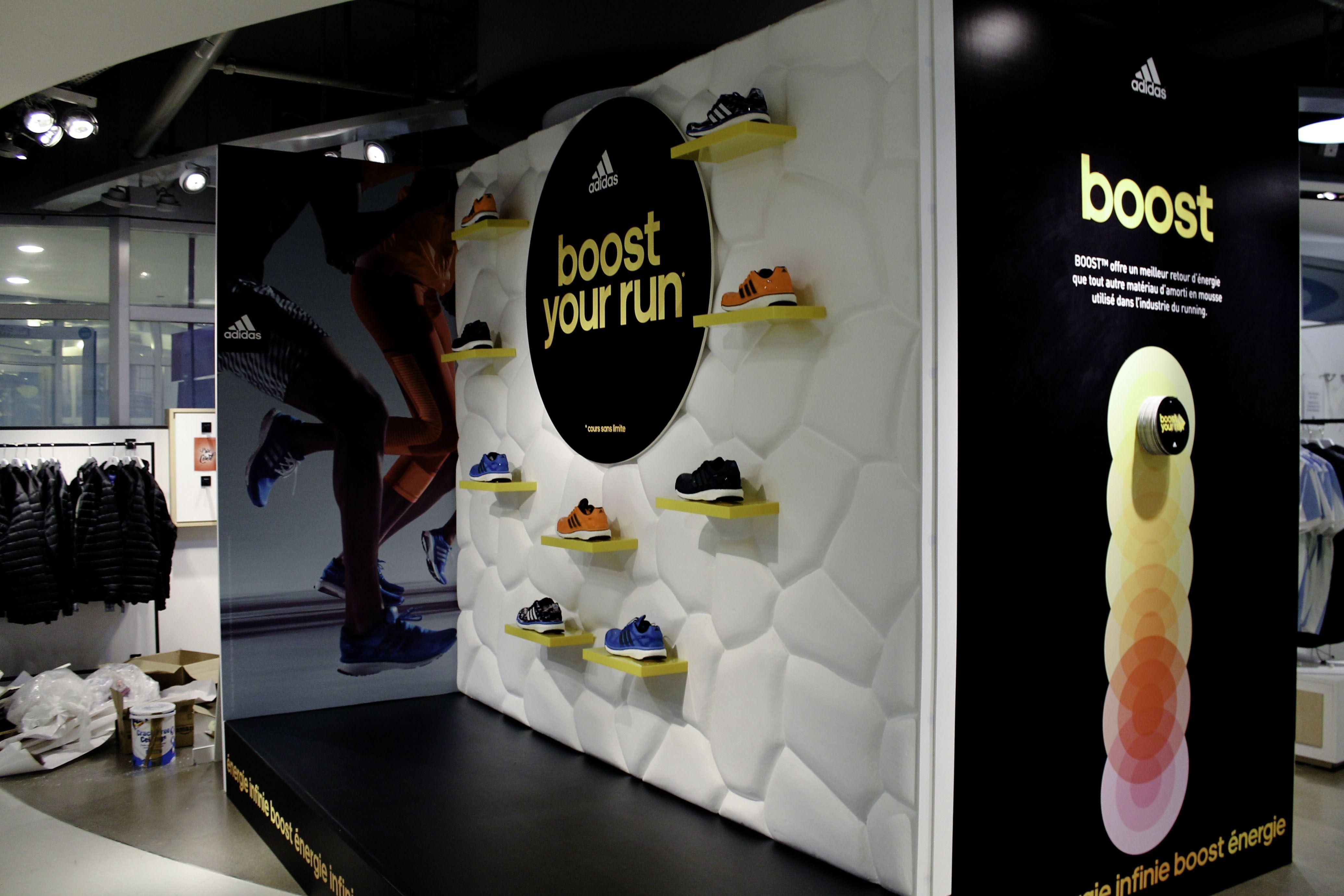 Adidas Boost Launch Window Retail Display
