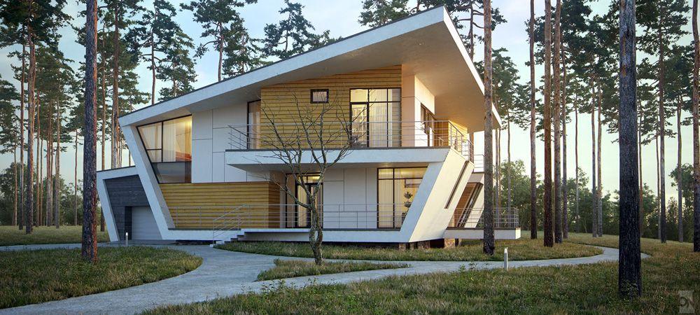 VrayWorld - Gorki House #architecture #3d-vizual #3d render #3d-visualization