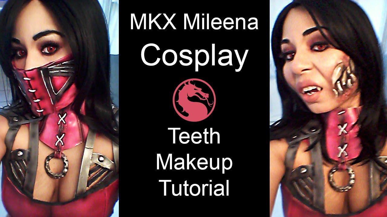 Mortal kombat x mileena teeth makeup tutorial for cosplay | mortal.