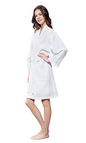 Turquaz Linen Lightweight Cotton Blend Women Waffle Kimono Spa Robe ... a5afa62a6