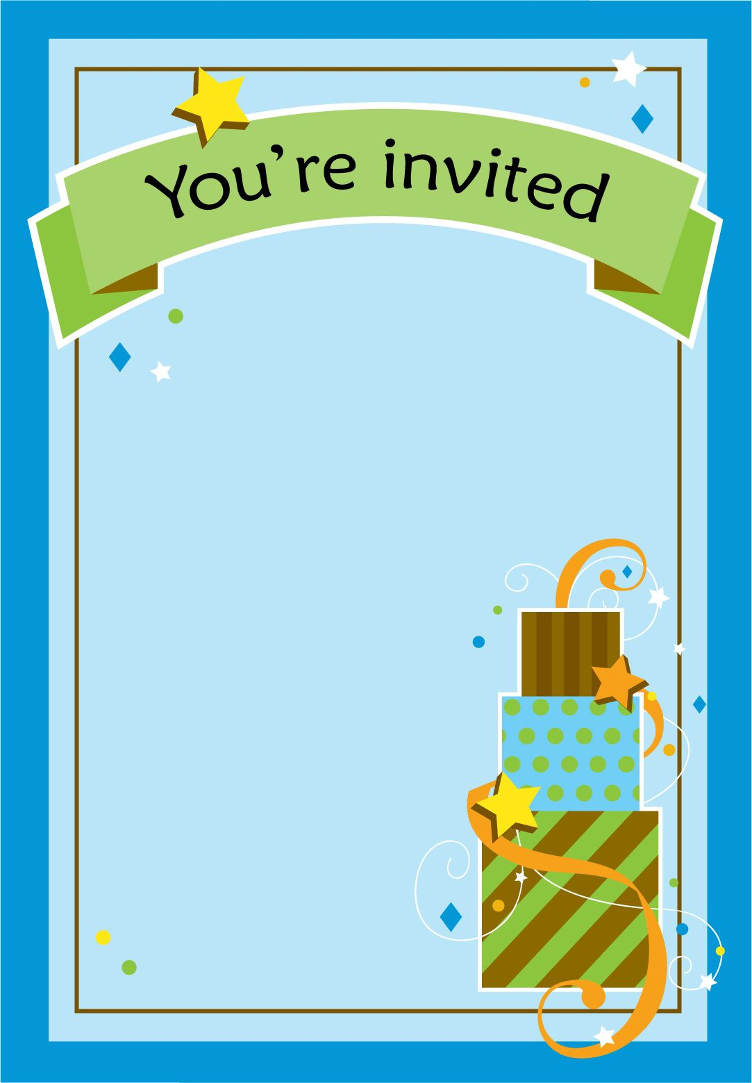Boy Fun Birthday Birthday Invitation Template Free