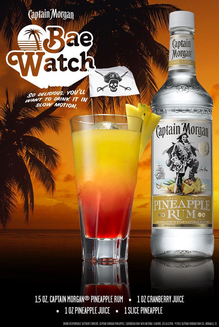 Captain Morgan Rum Pineapple Rum Drinks Alcoholic Drinks Liquor Drinks