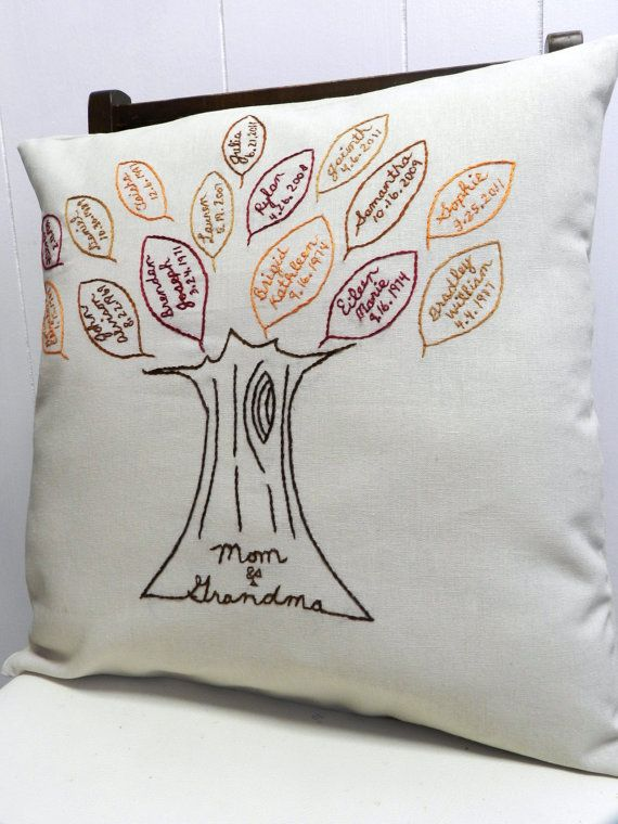 FAMILY TREE embroidered personalized custom gift item picture Mother/'s Day mom
