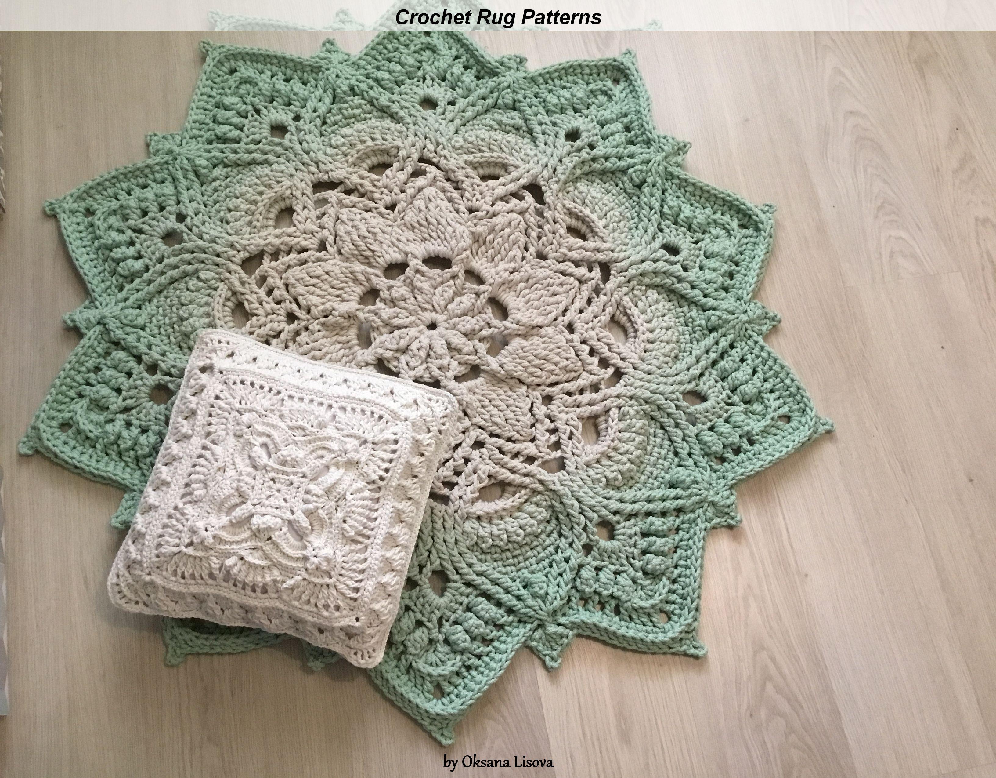 Video Tutorial Crocheting Rug Adonis Text Description In Etsy In 2020 Crochet Rug Patterns Crochet Rug Rug Pattern