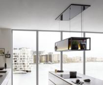 Berbel deckenlifthaube skyline frame mit regal umluftküche#küche