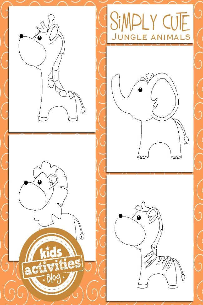 Jungle Animal Coloring Pages For Kids Coloring Pages Pinterest