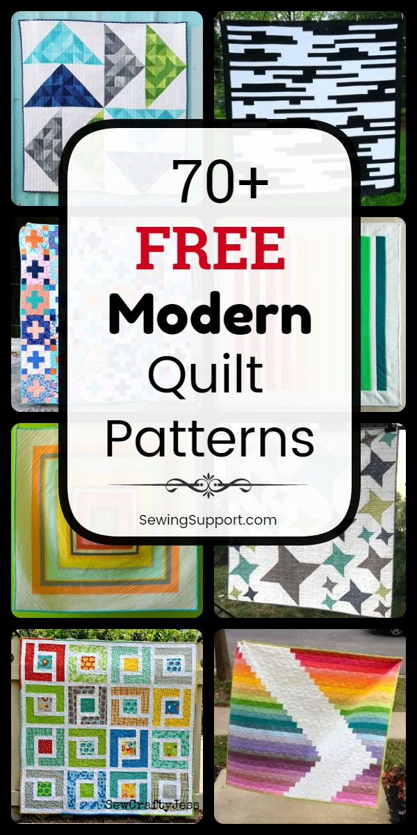 70+ Modern Quilt Patterns (Free) #modernquiltingdesigns