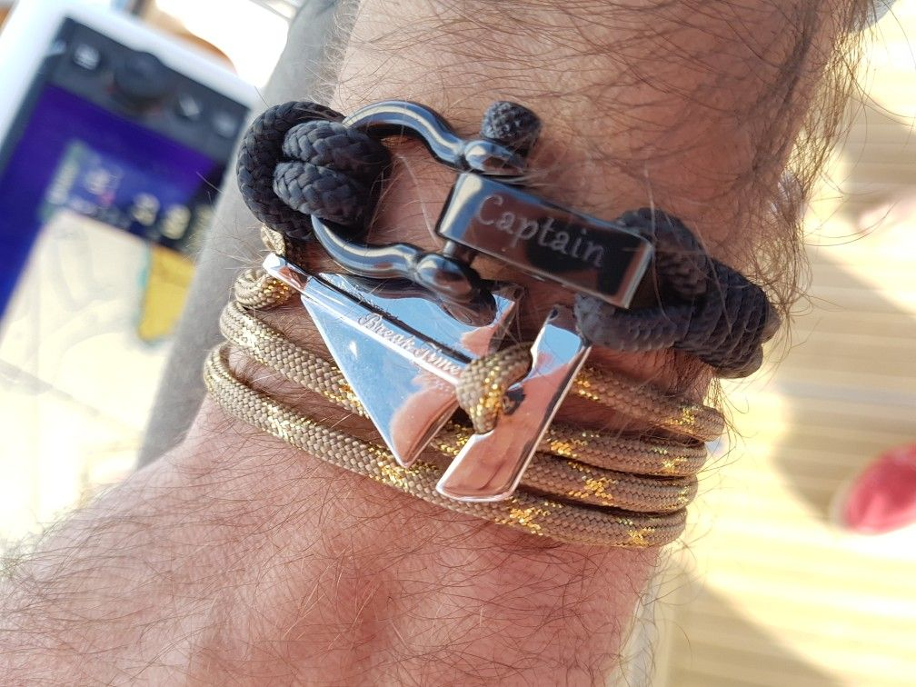 punk for multi jewelry bracelet woven anchor wrapped boat layer women hope leather men diy and product superfect