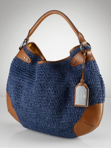 Inspiration: RL Claridge Straw & Leather Hobo is crafted ...