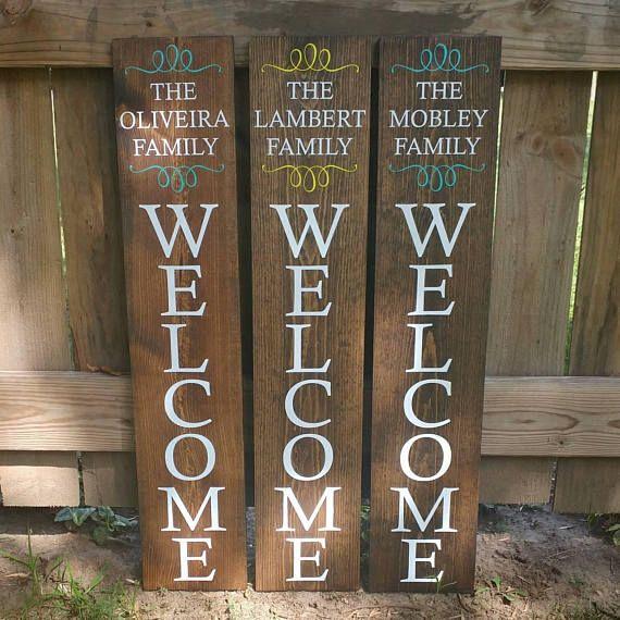 Last Name Signs Wooden Rustic Diy