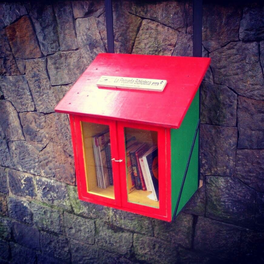 Little library. Bogota, Colombia