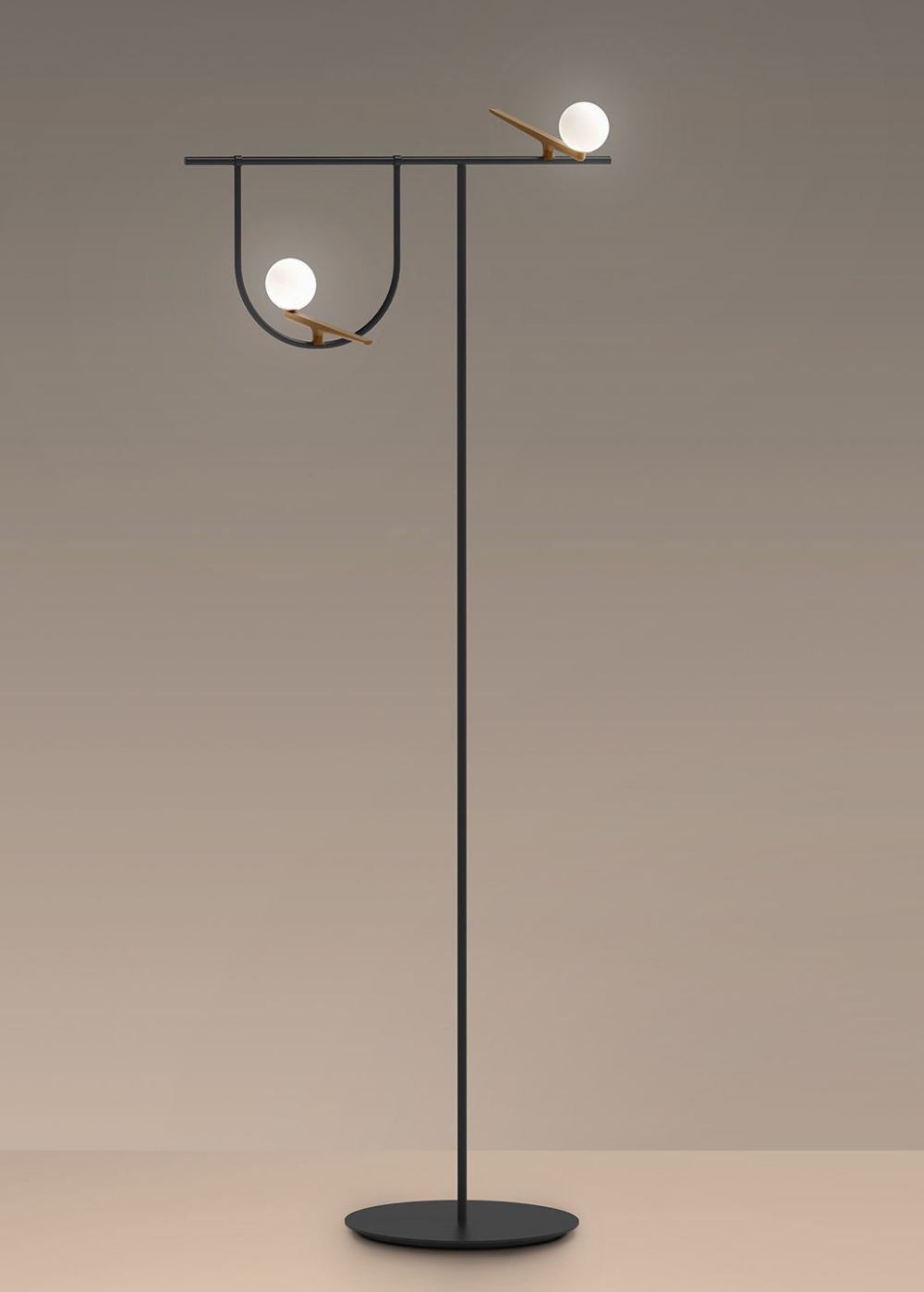 Artemide Yanzi Led Floor Lamp Black Made In Design Uk With