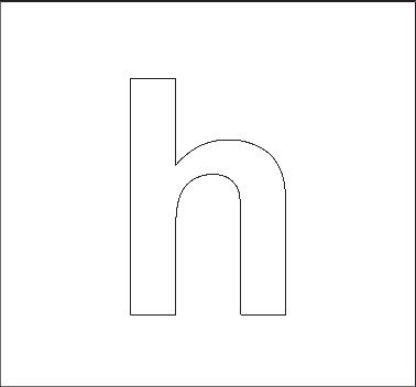 lowercase h stencil | Alphabet stencils, Lowercase a ...