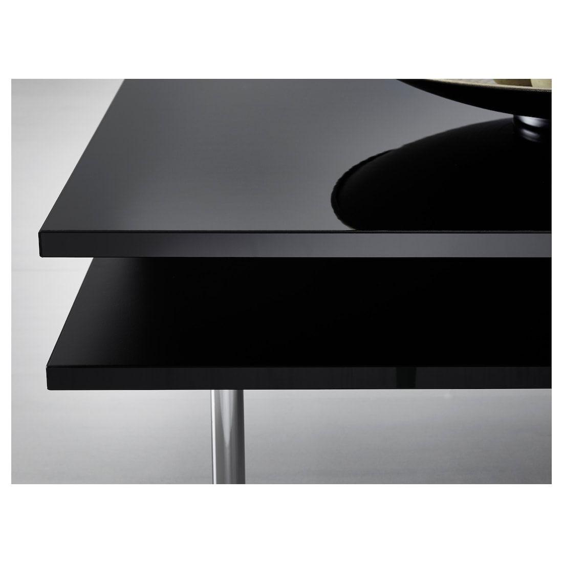 Tofteryd Coffee Table High Gloss Black 37 3 8x37 3 8 Ikea In 2021 Coffee Table High Gloss Black Coffee Tables Bedside Table Metal [ 1100 x 1100 Pixel ]
