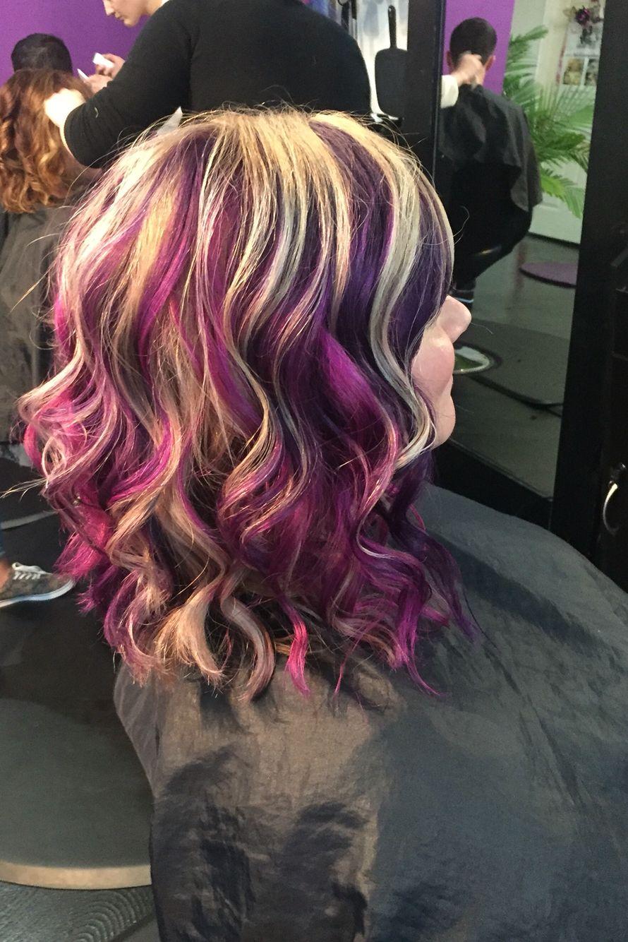 Purple Blonde Magenta Pinwheel Britanynicolesalon Pinwheel