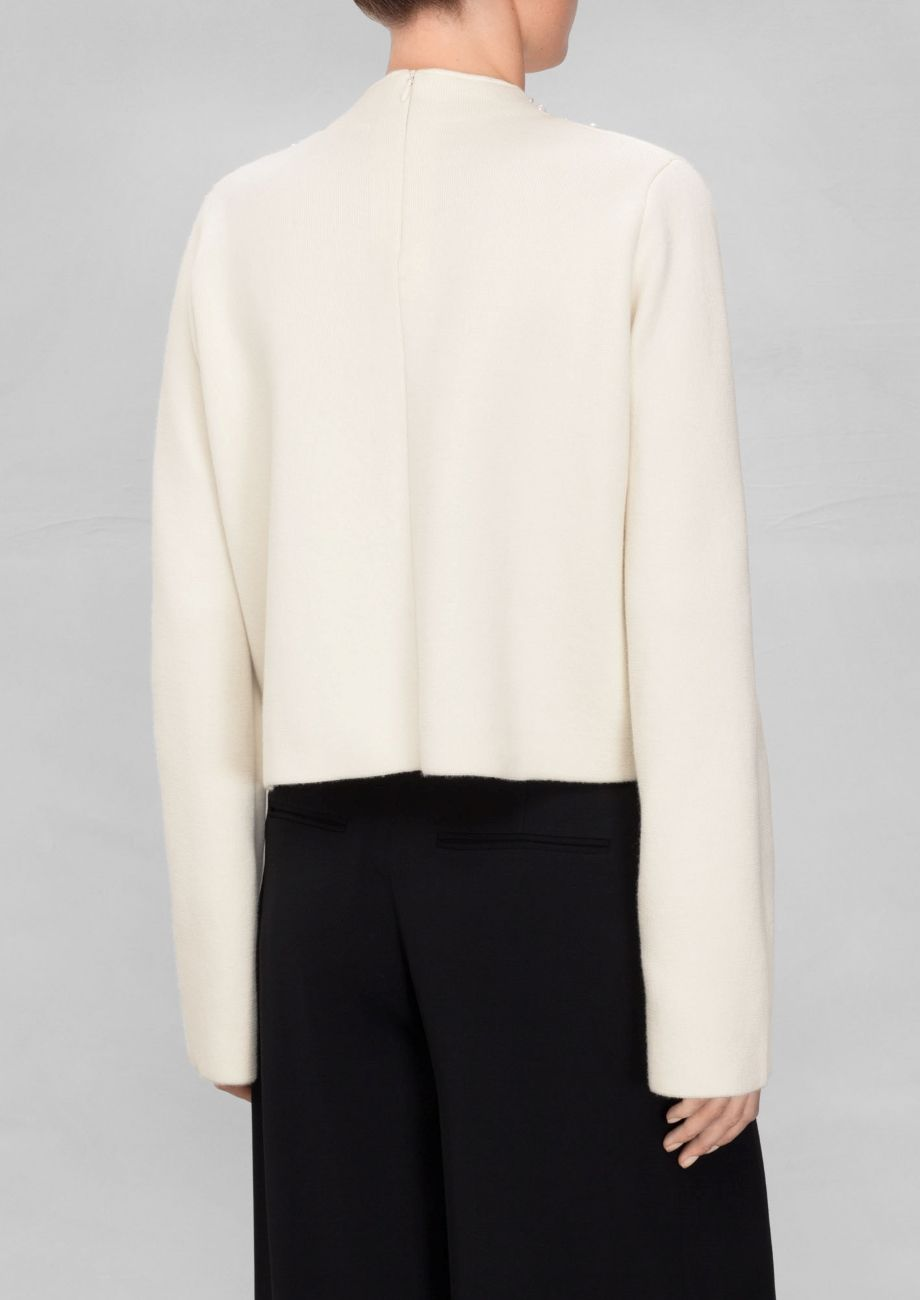 & Other Stories   Wool Pearl Detail Sweater