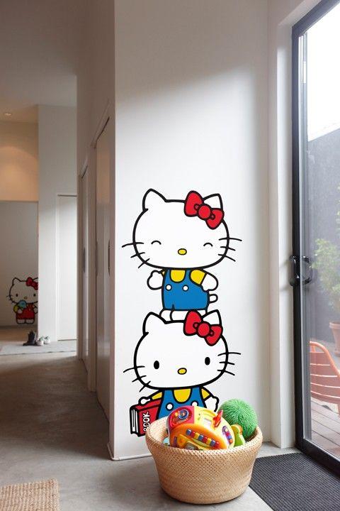 Vinilos Hello Kitty Pared.Vinilo Hello Kitty 2 Hello Kitty Decoracion Hello Kitty