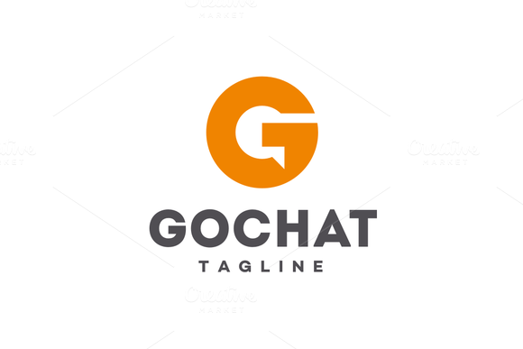 GoChat - Letter G Logo by @Graphicsauthor