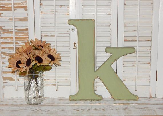 Lowercase Wood Letters Distressed Wooden Letter k Wall Decor 14 ...