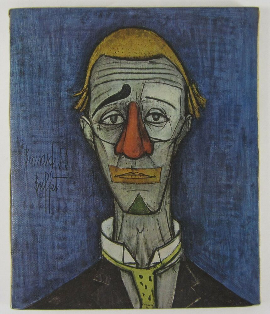 Pleasant Vintage Mid Century Modern Bernard Buffet Print On Canvas Interior Design Ideas Apansoteloinfo