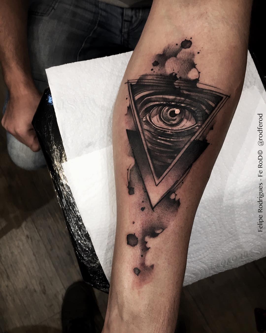 Watercolor Eye Of Providence Tatuajes Tatuaje Illuminati