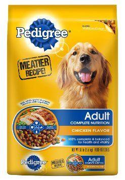Fobcas Wishlist Pedigree Adult Chicken Flavor Dog Food 30 Pounds