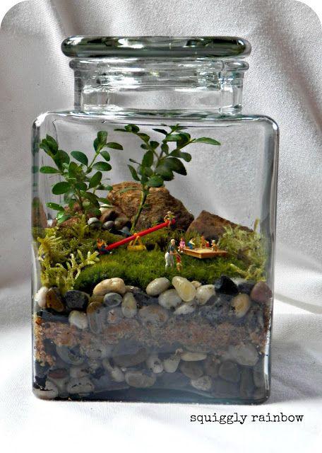 terrarium terrarium little lands pinterest plantes miniature et bocal. Black Bedroom Furniture Sets. Home Design Ideas