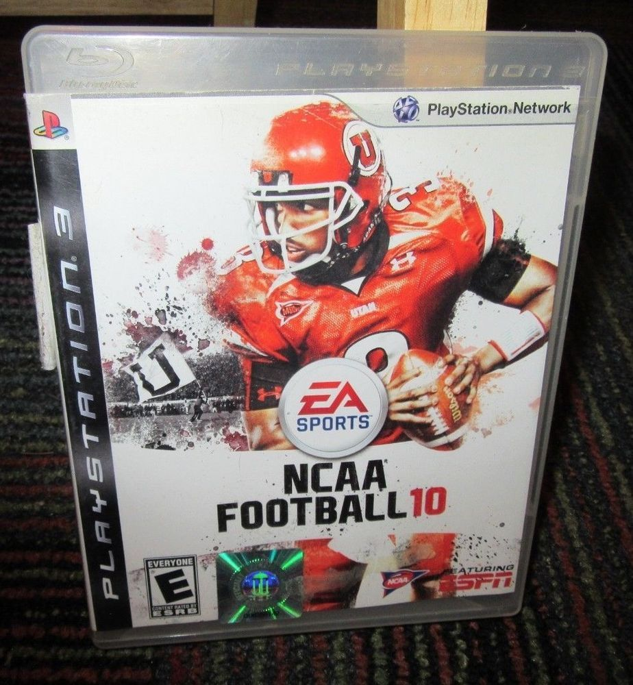 Ncaa football 10 game for playstation 3 ps3 case game