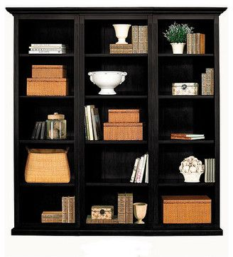 tuscan flush bookcase set 3 piece traditional bookcases cabinets and computer armoires