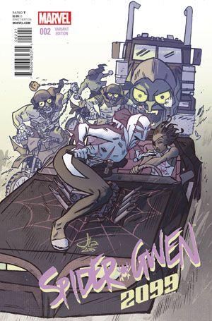 Secret Wars 2099 #2 Cover B Variant Jason Latour Spider-Gwen 2099 Cover (Secret Wars Warzones Tie-In)