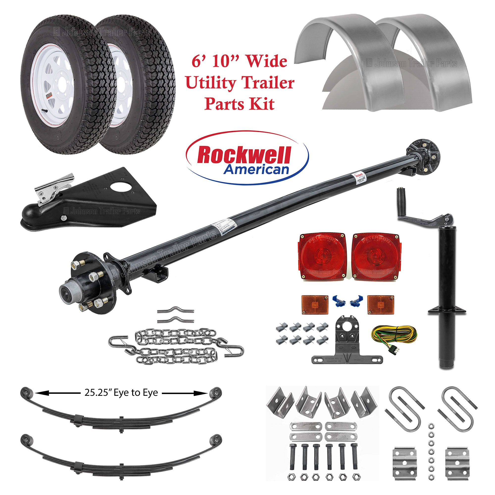 6ft 10in Utility Trailer Parts Kit 3 500 Lb Capacity Utility Trailer Utility Trailer Parts Utility Trailer Kits