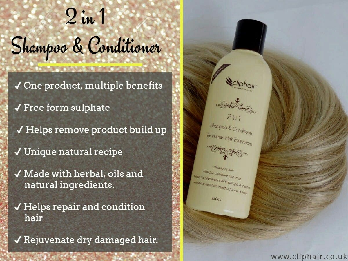 2 In 1 Shpoo Conditioner Perfect For Human Hair Extensions Buy