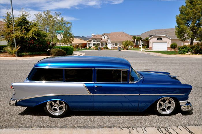 1956 Chevy 2 Door Wagon Chevy Classic Cars Trucks Muscle Cars
