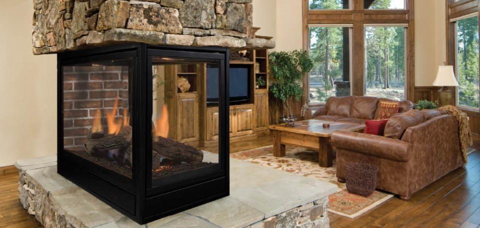 Majestic Pearl See Thru Peninsula Gas Fireplaces 3 Sided