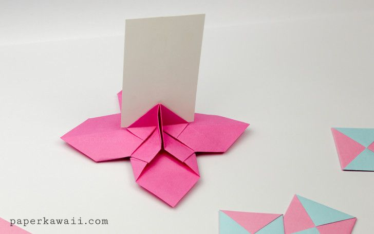 Origami flower card holder instructions brico pinterest flower origami flower card holder instructions mightylinksfo