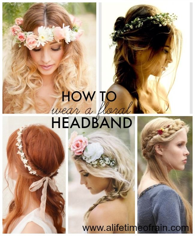 Wedding Flowers Crown For Fine Hairstyle: How To Wear A Floral Crown
