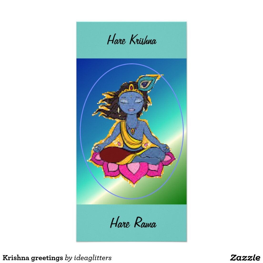 Krishna greetings photo card visit my store at zazzle krishna greetings photo card kristyandbryce Gallery