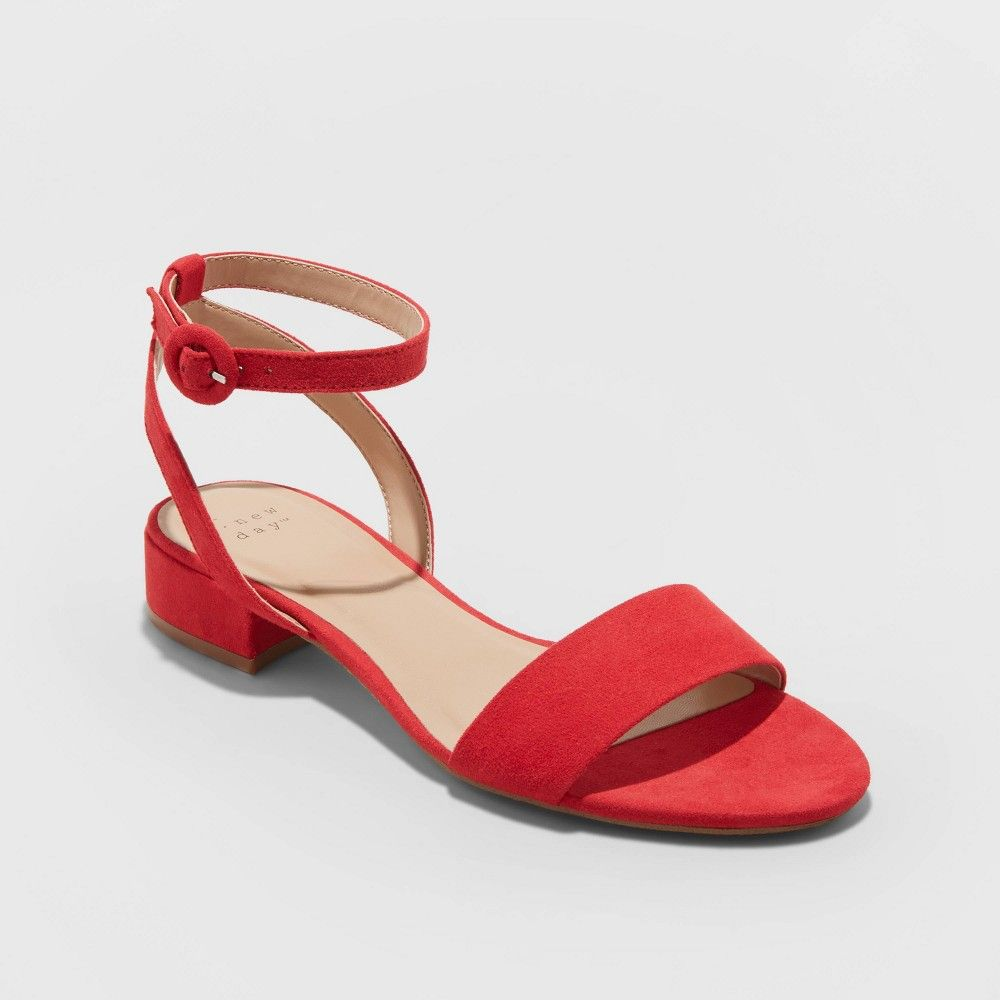Winona Microsuede Ankle Strap Sandals