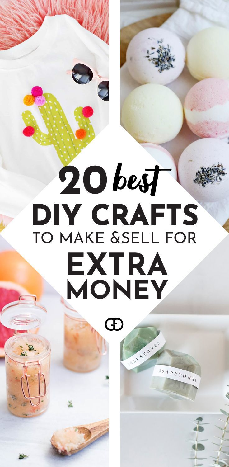 20 Easy Things To Make and Sell Online For Extra Cash #craftstosell