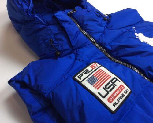 Polo Jacket Flag Downhill Ski Vest Alpine Lauren Men Ralph Down Usa H2DIWE9