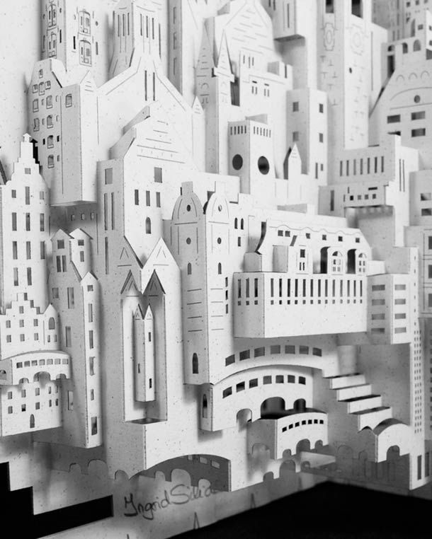 Paper Architect – The paper creations of Ingrid Siliakus | Pinterest ...